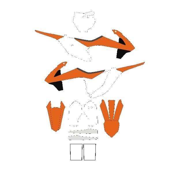 ktm motocross vector templates vector template store