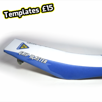 Motocross Seat Cover Vector Templates